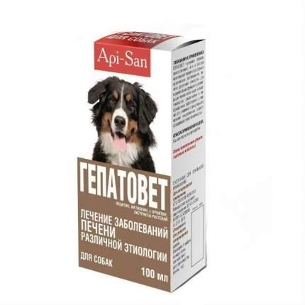 Гепатовет Api-San суспензия для лечения заболеваний печени у кошек и собак 100 мл