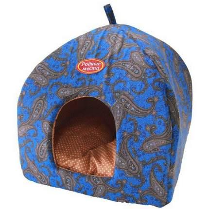 Домик для кошек и собак Родные места Избушка №1 Огурцы синие, 42x42x50см