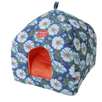 Домик для кошек и собак Родные места Избушка №1 Ромашки, 42x42x50см