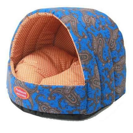 Домик для кошек и собак Родные места Колыбелька №1 Огурцы синие, 38x35x27см