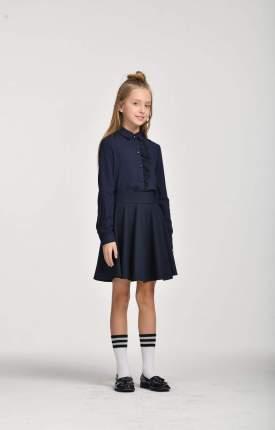 Блузка для девочек СМЕНА синий SCH19-19016B055.02-g-66 р.122/60