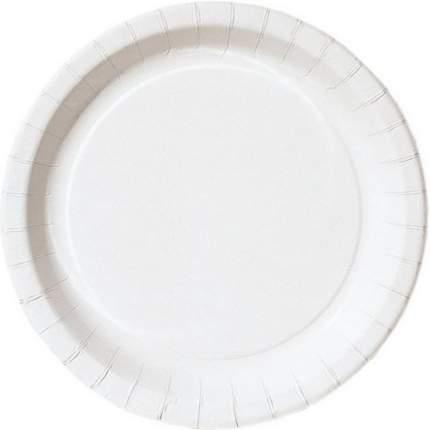 Тарелка бумажная СВЧ белые 22 см 10 штук
