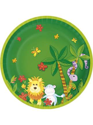 Тарелка бумажная джунгли 22 см 10 штук