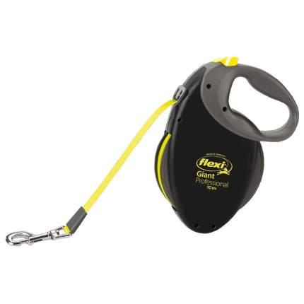 Поводок-рулетка Flexi Giant Neon Professional L, черный