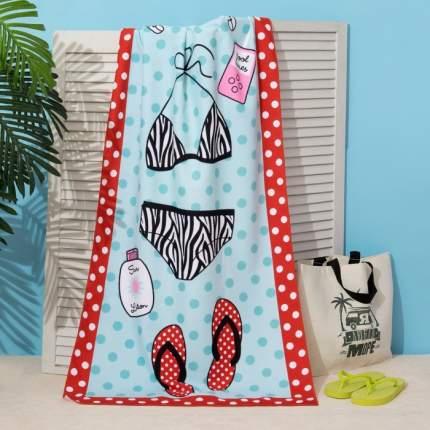 Полотенце пляжное Этель 70x140 см, Сандали на белом, Этель