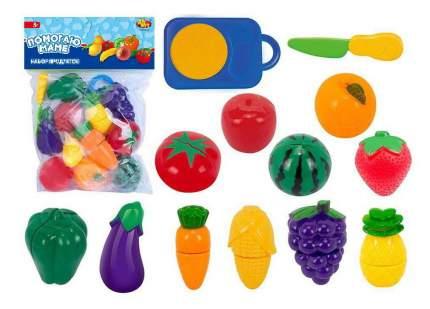 Набор продуктов ABtoys для резки на липучках Помогаю Маме Фрукты и овощи, 24 предмета