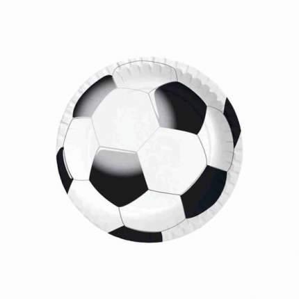 Тарелка бумажная СВЧ футбол 22 см 10 штук