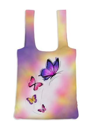 Пляжная сумка 40х43 Бабочки IQ Komfort 1746236 фиолетовая