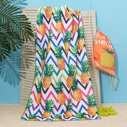 Полотенце пляжное в сумке Этель Ананасы, 70x140 см, Этель