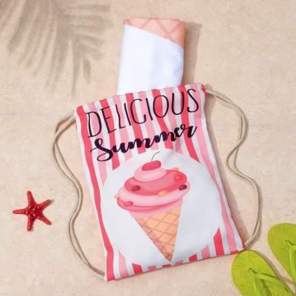 Полотенце пляжное в сумке Этель Summer, 70x140 см, Этель