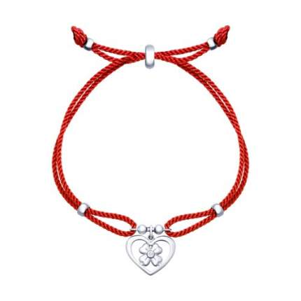 Браслет женский с серебром «Сердце» SOKOLOV 94050413 р.19