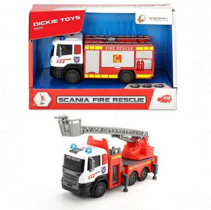 Машина пожарная Dickie Toys Scania кабина die-cast, 17 см