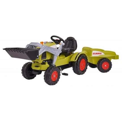 Детский педальный трактор-погрузчик BIG с прицепом Claas