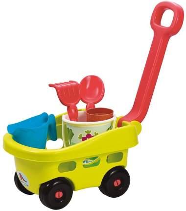 Детская садовая тележка Ecoiffier с аксессуарами для песочницы