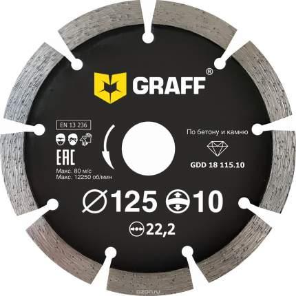 Круг алмазный GRAFF Ф125х22мм по бетону (GDD 18 125,10)