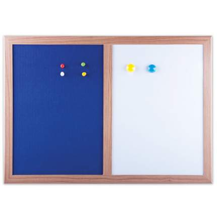 Доска комбинированная: магнитно-маркерная, текстильная для объявлений А3 (342х484 мм), BRA