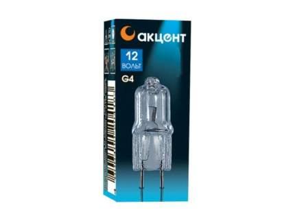 Лампа галогенная АКЦЕНТ JC 12В 10W G4 капсульная прозрачная