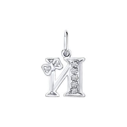 Серебряная подвеска с буквой «И» SOKOLOV 94030474