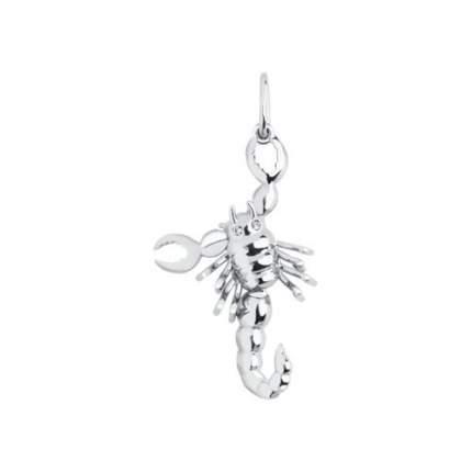 Серебряная подвеска « Скорпион» с фианитами SOKOLOV 94030028