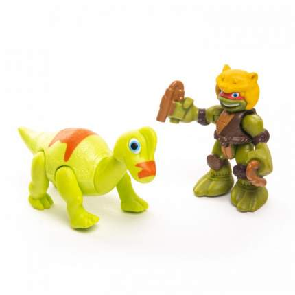 Фигурка Playmates Черепашки-ниндзя Дино Майк с Брахиозавром