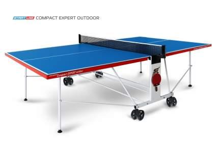 Теннисный стол Start Line Compact Expert Outdoor синий/белый/красный/черный, с сеткой