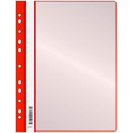 """Папка с 10 вкладышами """"OfficeSpace"""", с перфорацией, А4, 160 мкм, красная"""