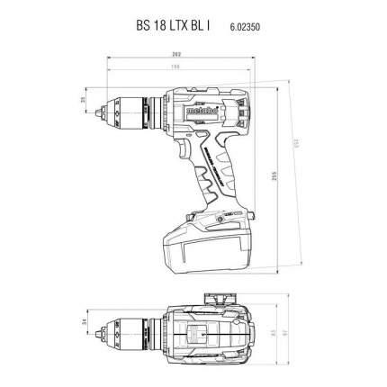 Аккумуляторная дрель-шуруповерт Metabo BS 18 LTX BL I 60235 602350650