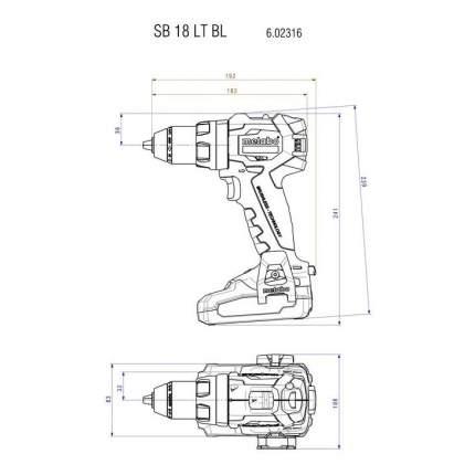 Аккумуляторная дрель-шуруповерт Metabo SB18LTBL 602316550