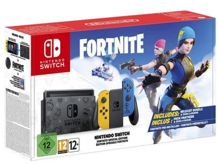 Игровая консоль Nintendo Switch. Особое издание Fortnite Yellow/Blue