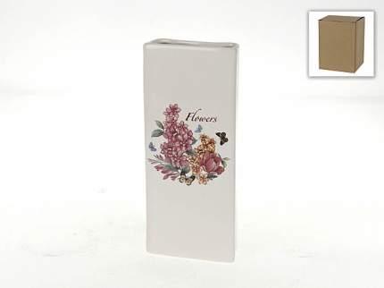 Ваза декоративная Polystar Collection, Flowers-Loreto, 24,5x10,5x4 см
