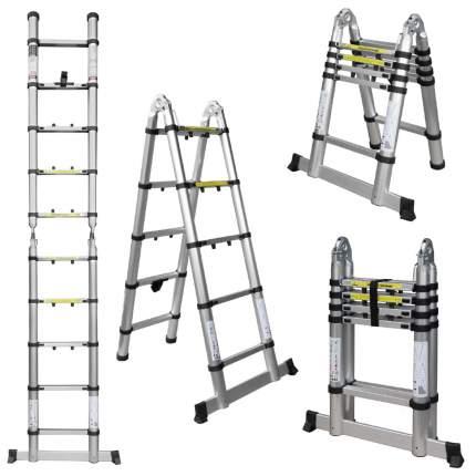 Лестница телескопическая алюминиевая UPU Ladder UPT705 3,1 м