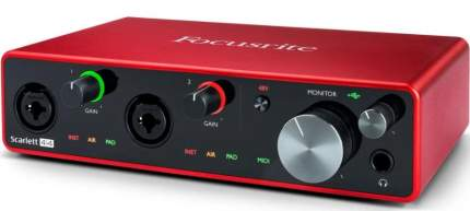 Аудиоинтерфейс Focusrite Scarlett 4i4 3rd Gen Red