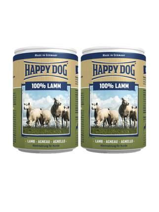Консервы для собак Happy Dog 100% Lamb, ягненок, 2шт по 400г