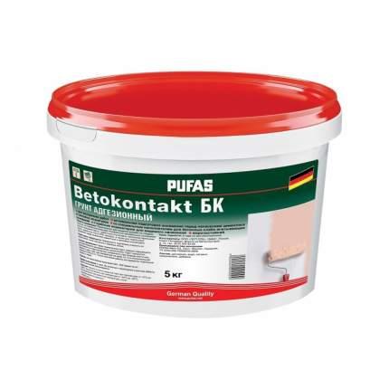 Грунтовка PUFAS Бетоконтакт БК для внутренних работ 5кг для повышения адгезии мороз,