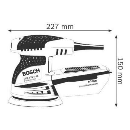Сетевая эксцентриковая шлифовальная машина Bosch GEX 125-1 AE 601387501