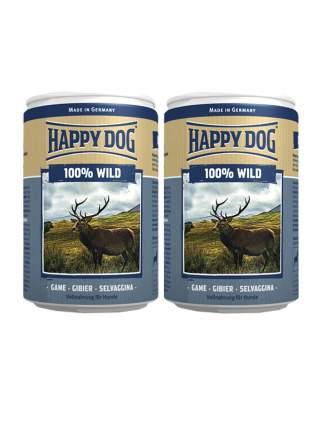 Консервы для собак Happy Dog 100% Wild, оленина, 2шт по 400г
