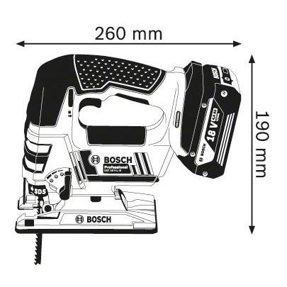 Аккумуляторный лобзик Bosch GST 18 V-LI B 06015A6100 БЕЗ АККУМУЛЯТОРА И З/У