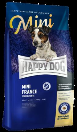 Сухой корм для собак Happy Dog Supreme Mini France Sensible Nutrition, утка картофель, 4кг