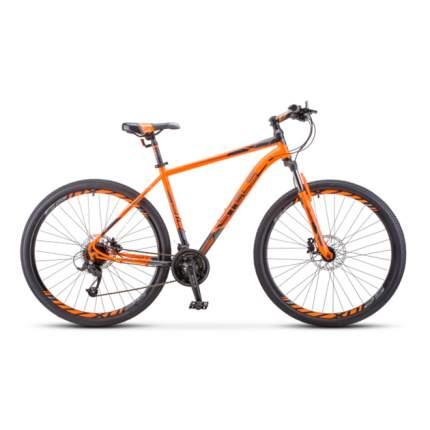 """Горный велосипед Stels Navigator 910 D V010 (2020) размер рамы 18.5"""" Оранжево-черный"""