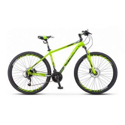 """Горный велосипед Stels Navigator 910 D V010 (2020) размер рамы 16.5"""" Салатово-черный"""