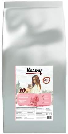Сухой корм для кошек Karmy Delicious, для привередливых, с индейкой, 10кг