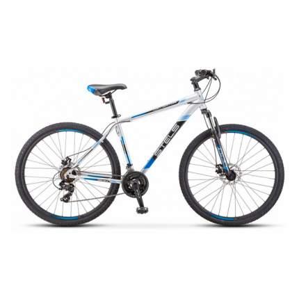 "Велосипед Stels Navigator 700 MD F010 2019 17.5"" серебристый/синий"
