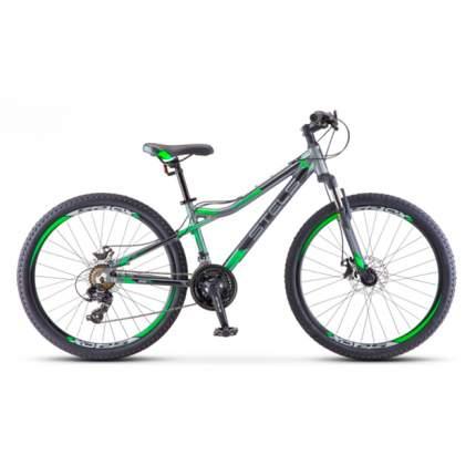 "Горный велосипед Stels Navigator 610 MD V040 (2018) размер рамы 14"" Серо-зеленый"