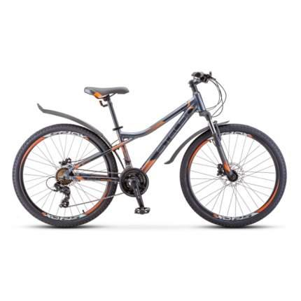 """Горный велосипед Stels Navigator 610 D V010 (2020) размер рамы 14"""" Серо-оранжевый"""