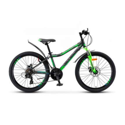 "Велосипед Stels Navigator 410 MD 21-sp V010 (2019) 24"" Черно-зеленый"