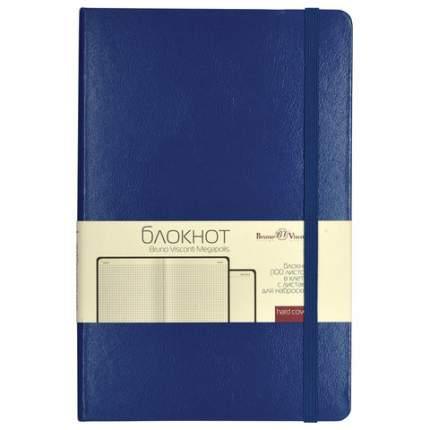 """Бизнес-блокнот """"Bruno visconti"""", А5, 100 листов, клетка, на резинке, цвет обложки синий"""