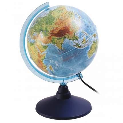 Глобус Земли физический + политический, с подсветкой, 210 мм