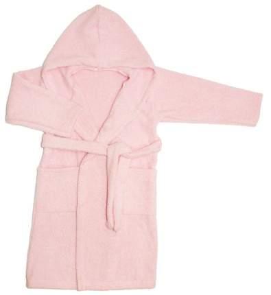 Халат Осьминожка с капюшоном махровый детский розовый 92 размер