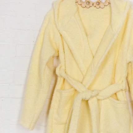 Халат Осьминожка с капюшоном махровый детский желтый 104 размер