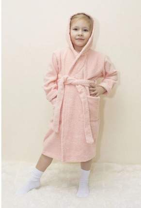 Халат Осьминожка с капюшоном махровый детский персик 104 размер
